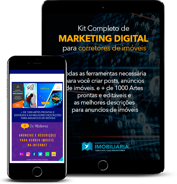 Kit Completo de {MARKETING DIGITAL} para corretores de imóveis