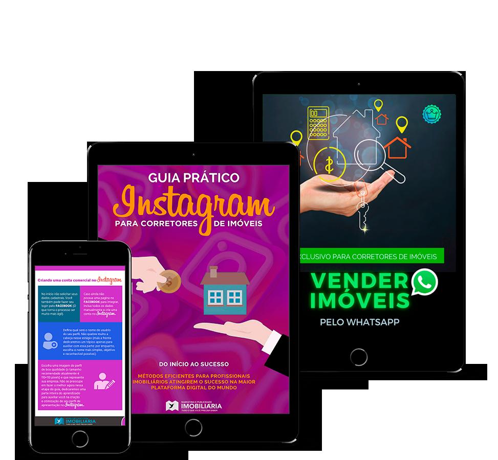 Guia Prático de Instagram e WhatsApp para corretores de imóveis + Modelos de anúncios